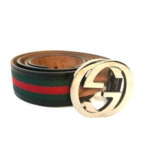 Men's Gucci belt (black, green, red)